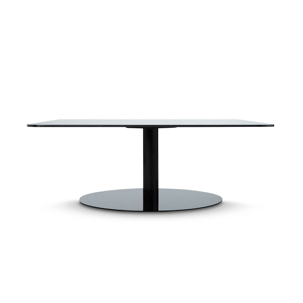 tom dixon flash table square black side 1000