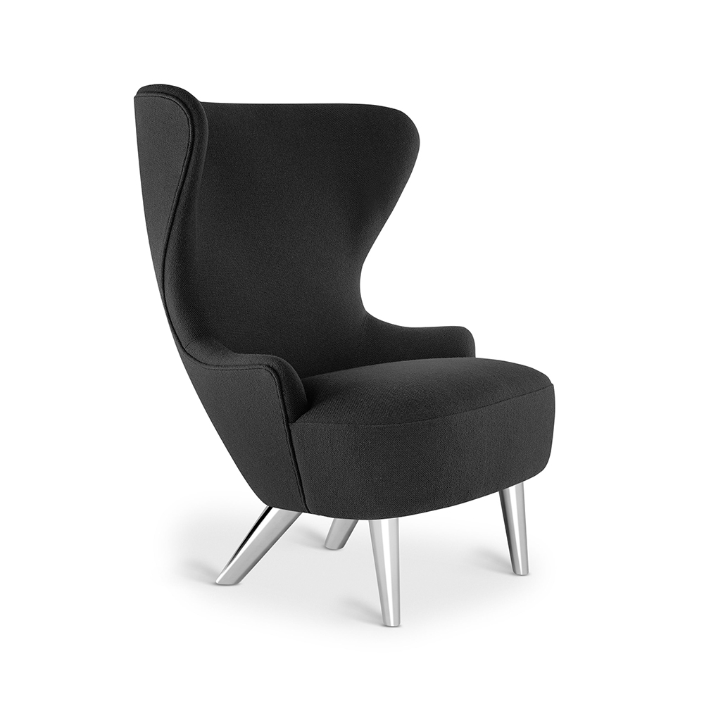 tom dixon micro wingback chair hallingdal 65 190 chrome leg 1000