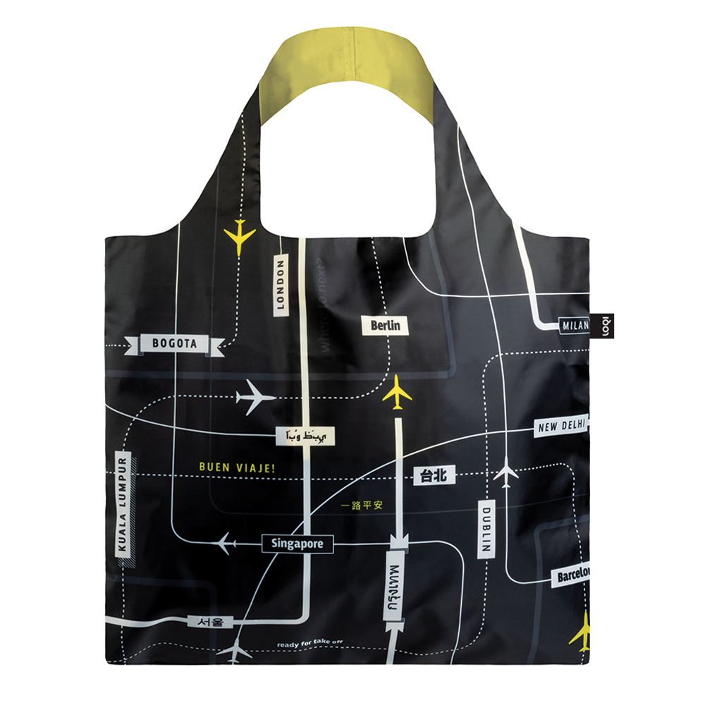 loqi shopping bag airport departures back 1000