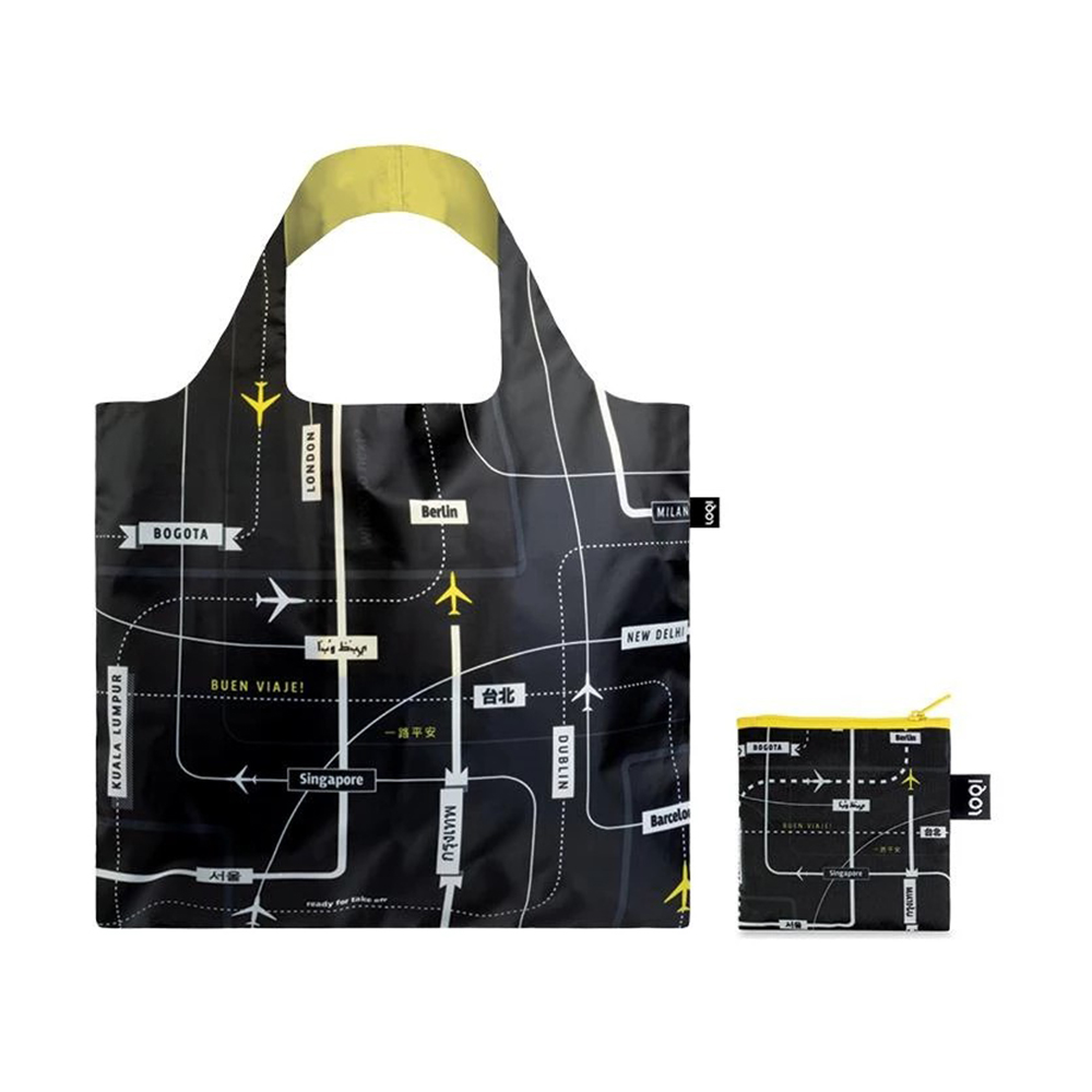 loqi shopping bag airport departures pouch 1000