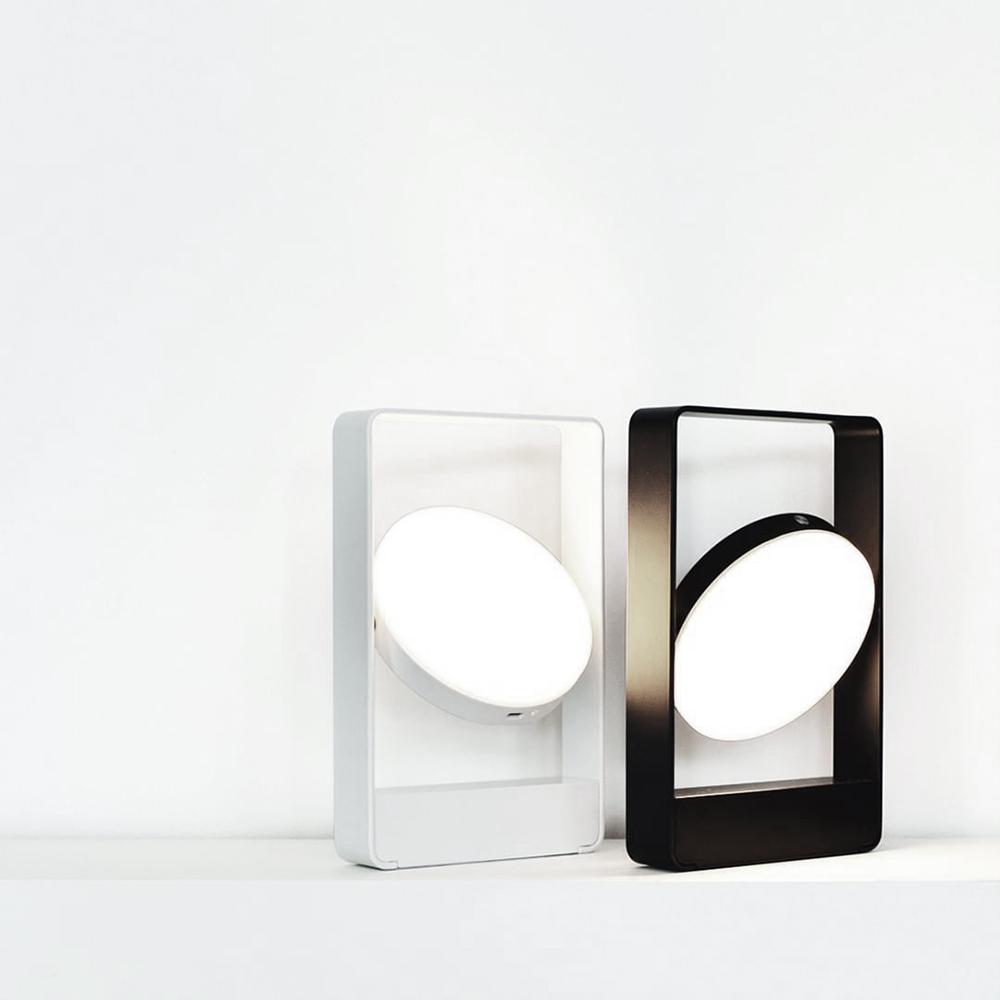 mouro portable lamp black white pair 1000