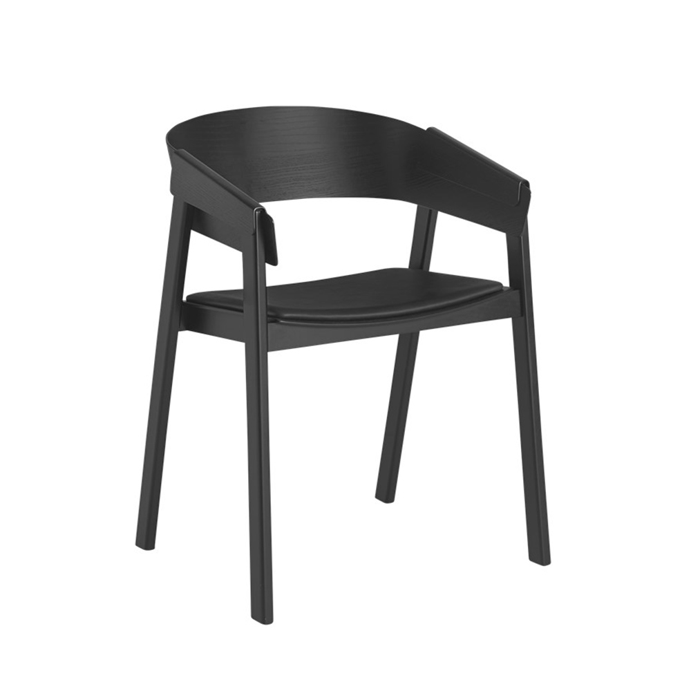 muuto cover chair black leather 1000