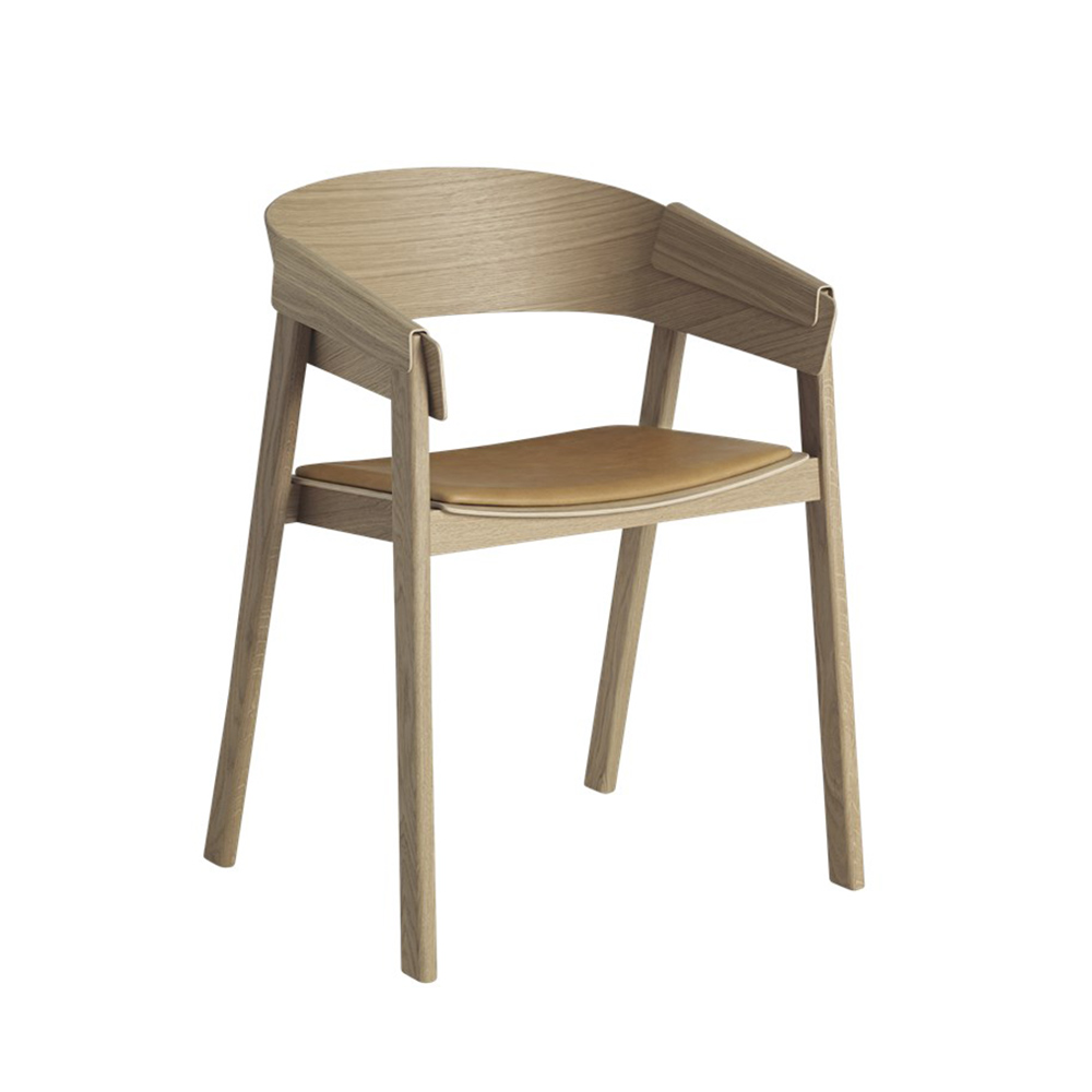 muuto cover chair oak leather 1000