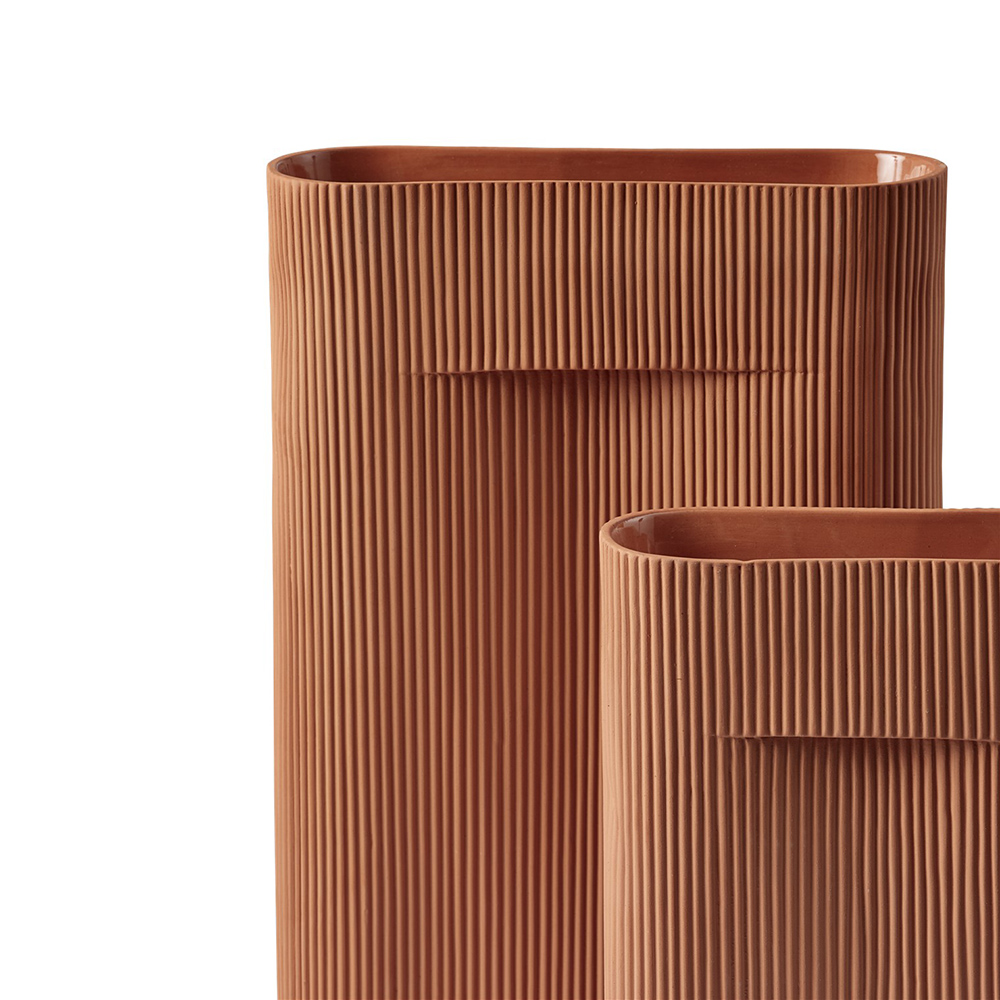 muuto ridge vase terracotta group 03 1000