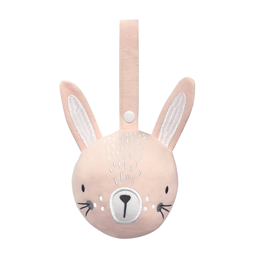 mister fly pram rattle ball bunny pink main 1000