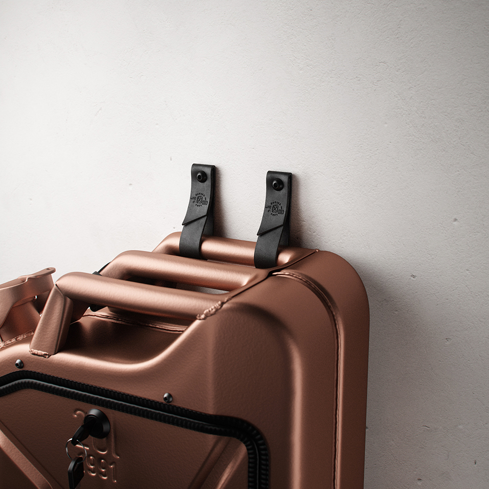 danish fuel copper leather wall hangers 1000