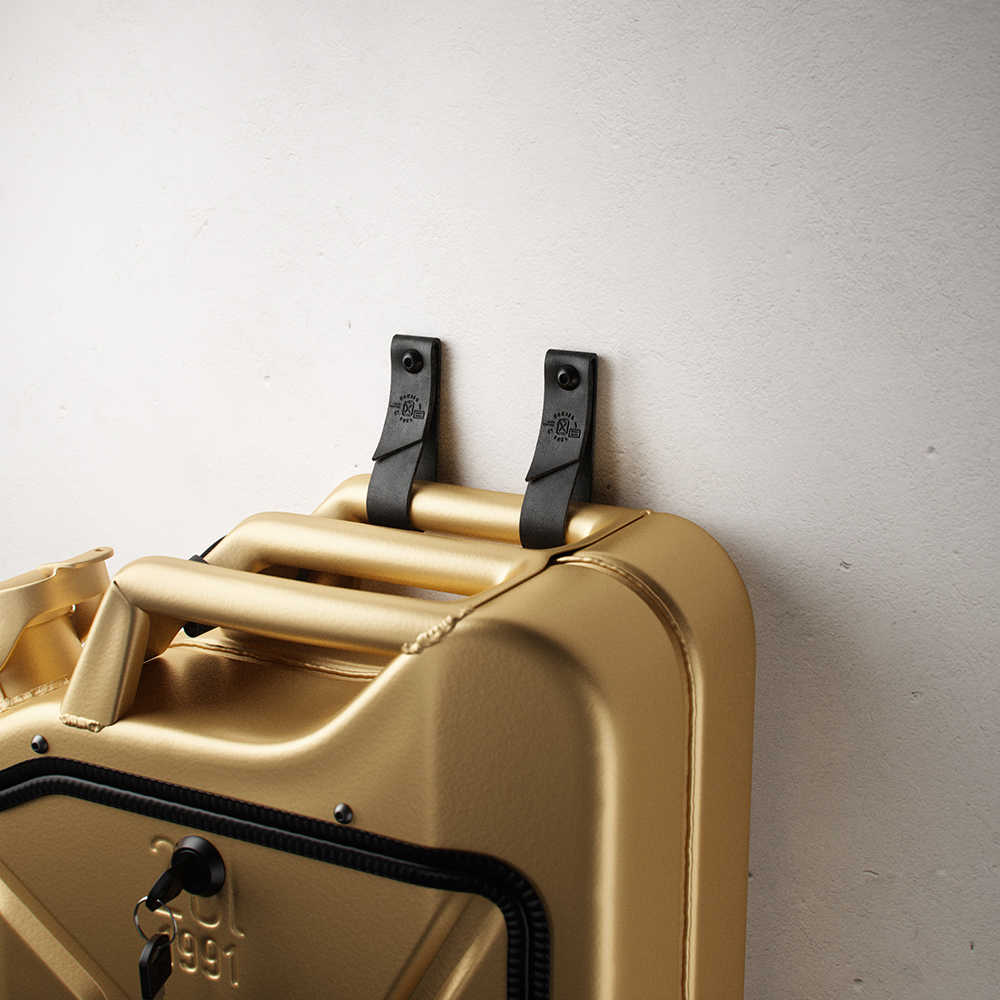 danish fuel gold leather wall hangers 1000