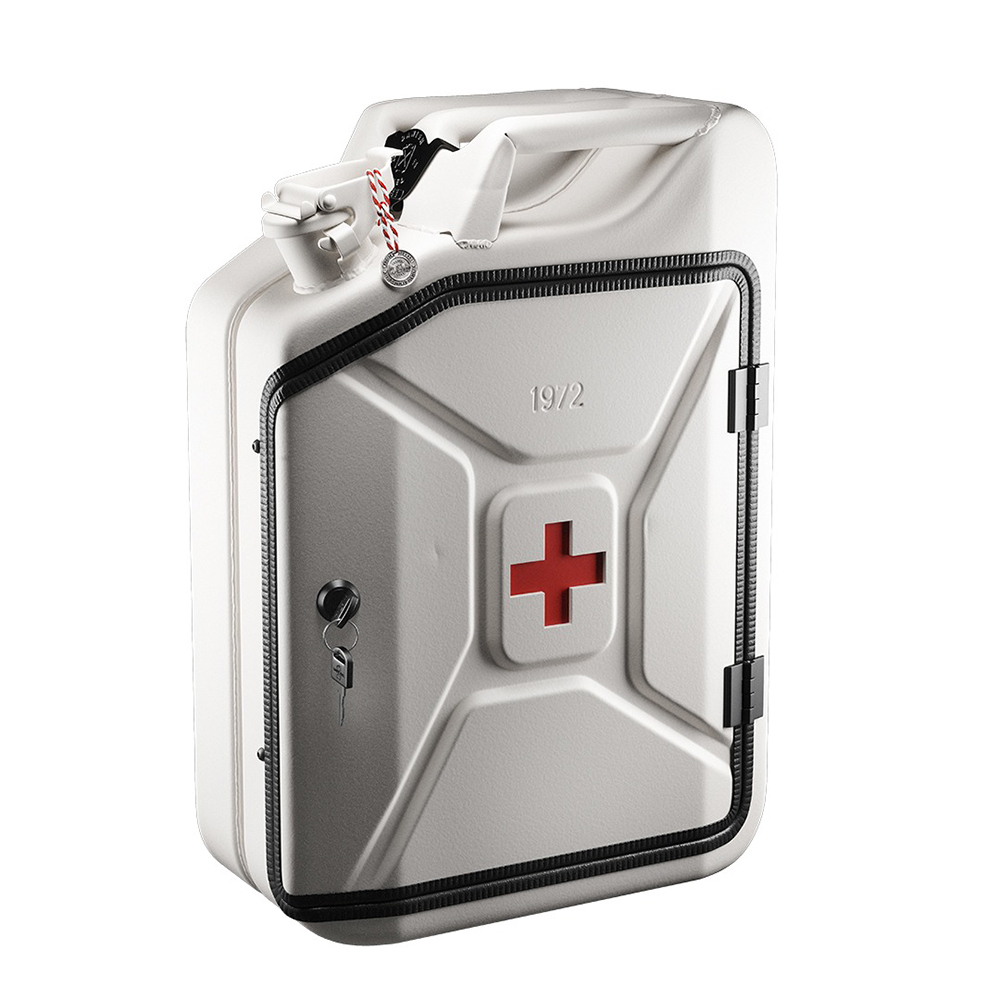 danish fuel first aid cabinet basic closed angle 1000