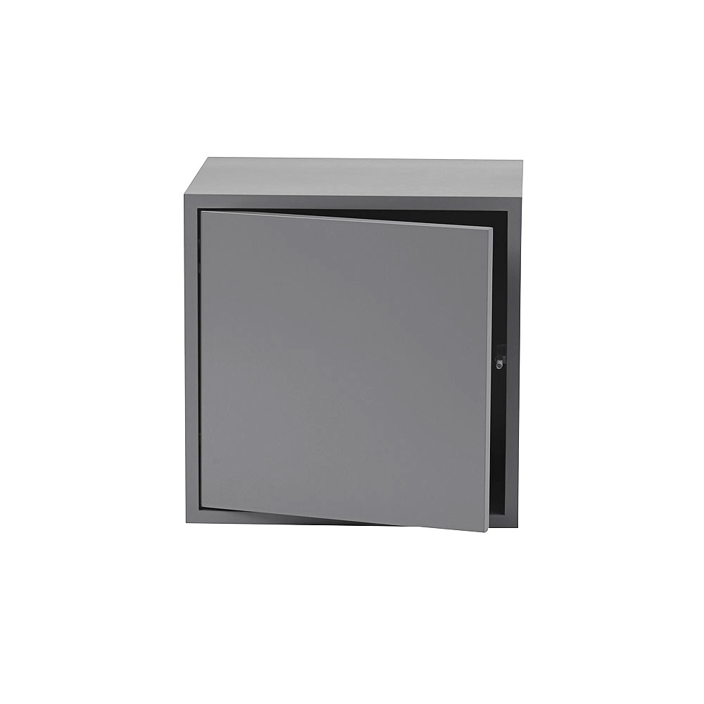 muuto stacked 2 dark grey with door medium 1000