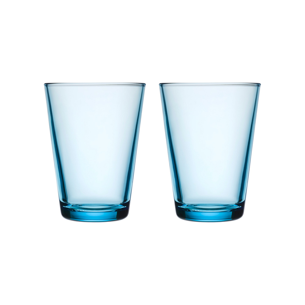 iittala kartio highball glass set light blue 1000