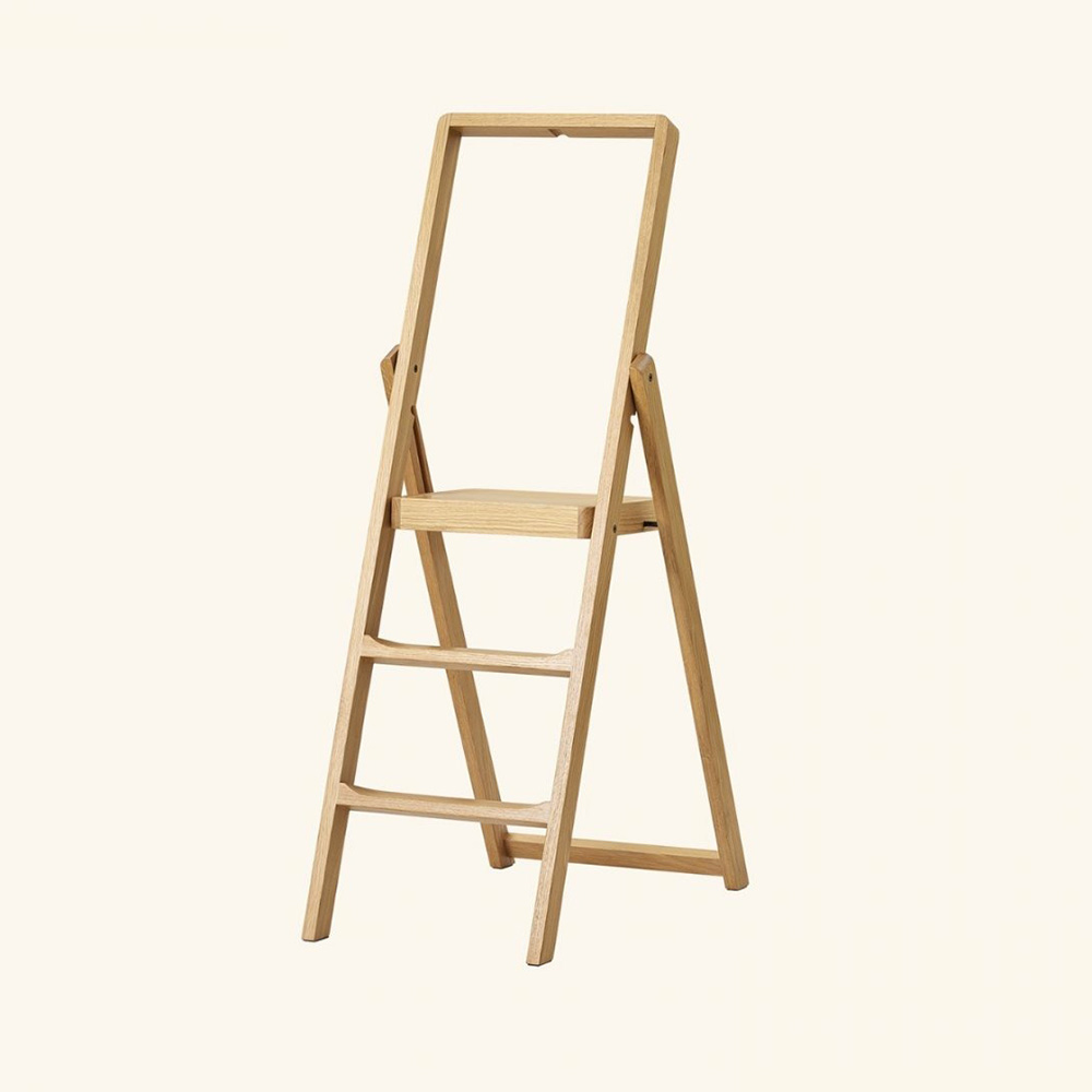 design house stockholm step ladder oak background 1000