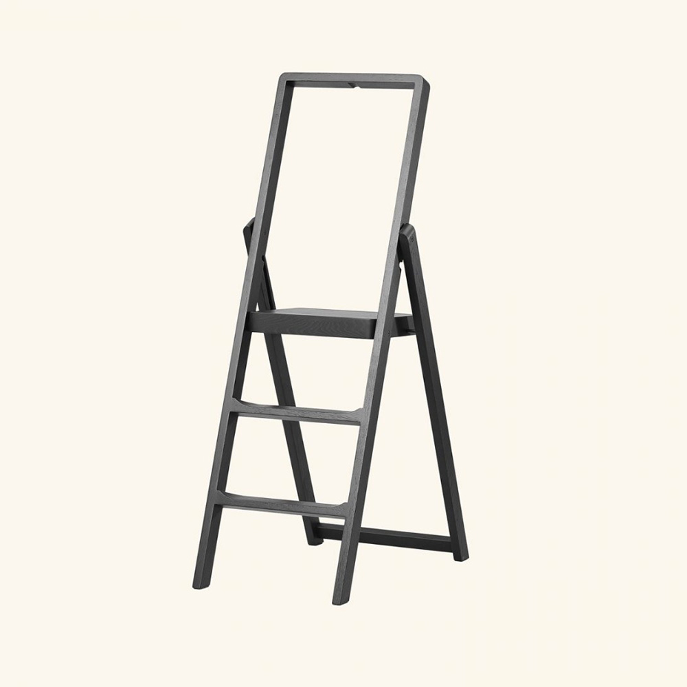 design house stockholm step ladder black background 1000