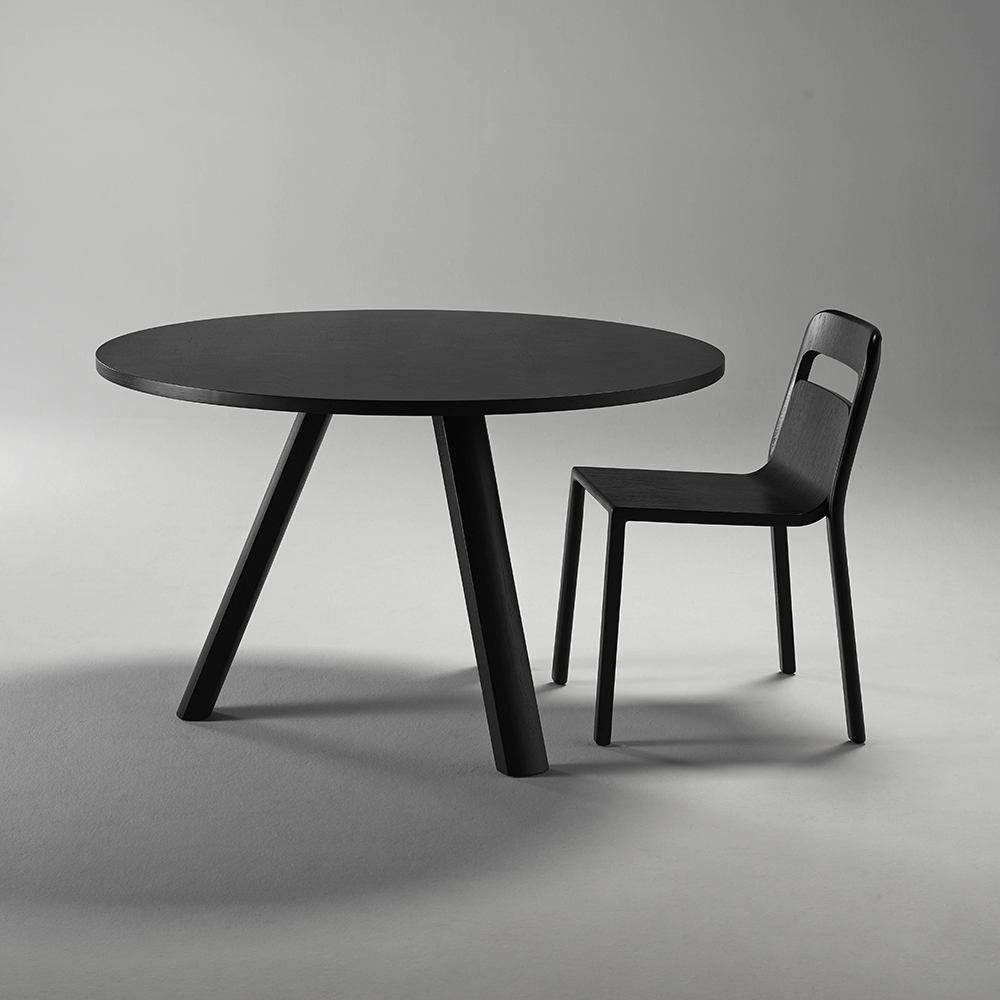 go home plateau table round 120cm black lifestyle 1000