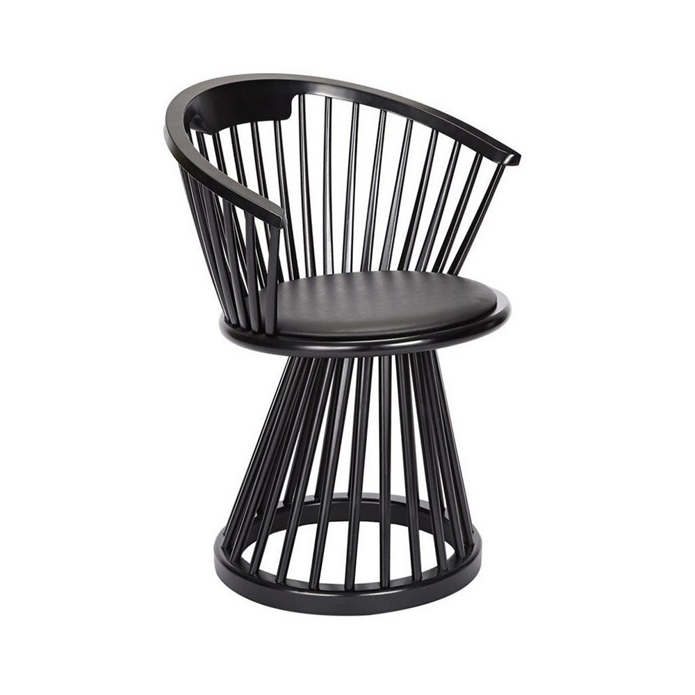 tom dixon fan dining chair black angle 1000