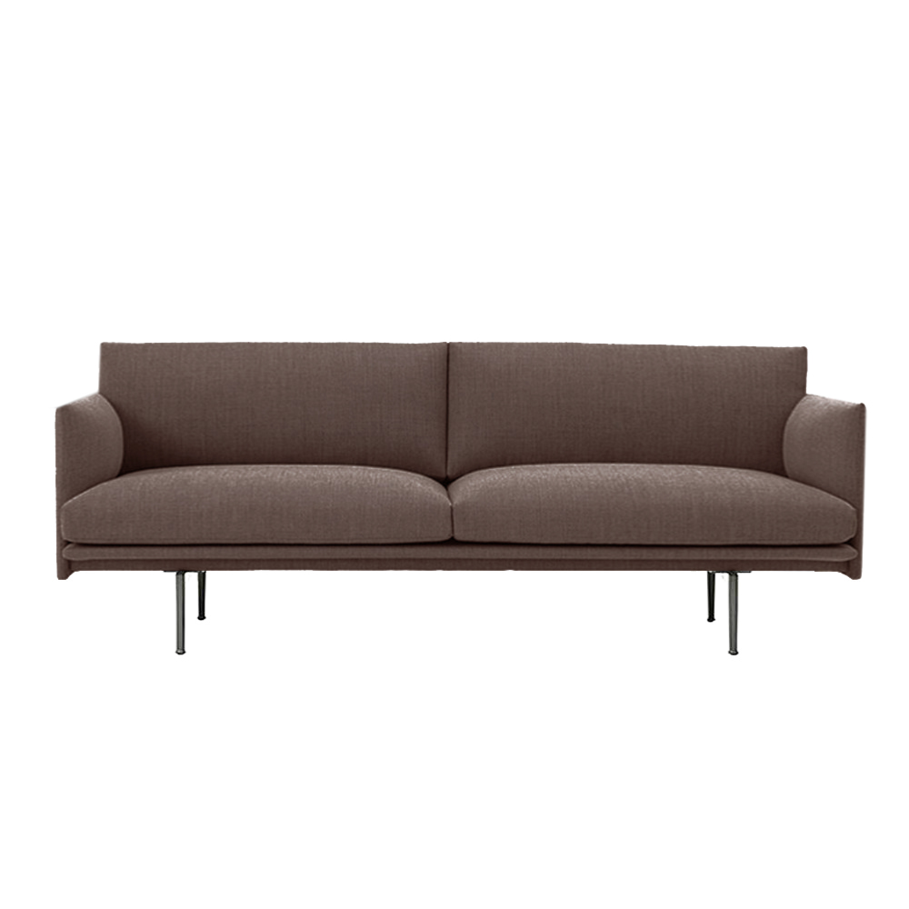 muuto outline 3 seater sofa twill 280 1000