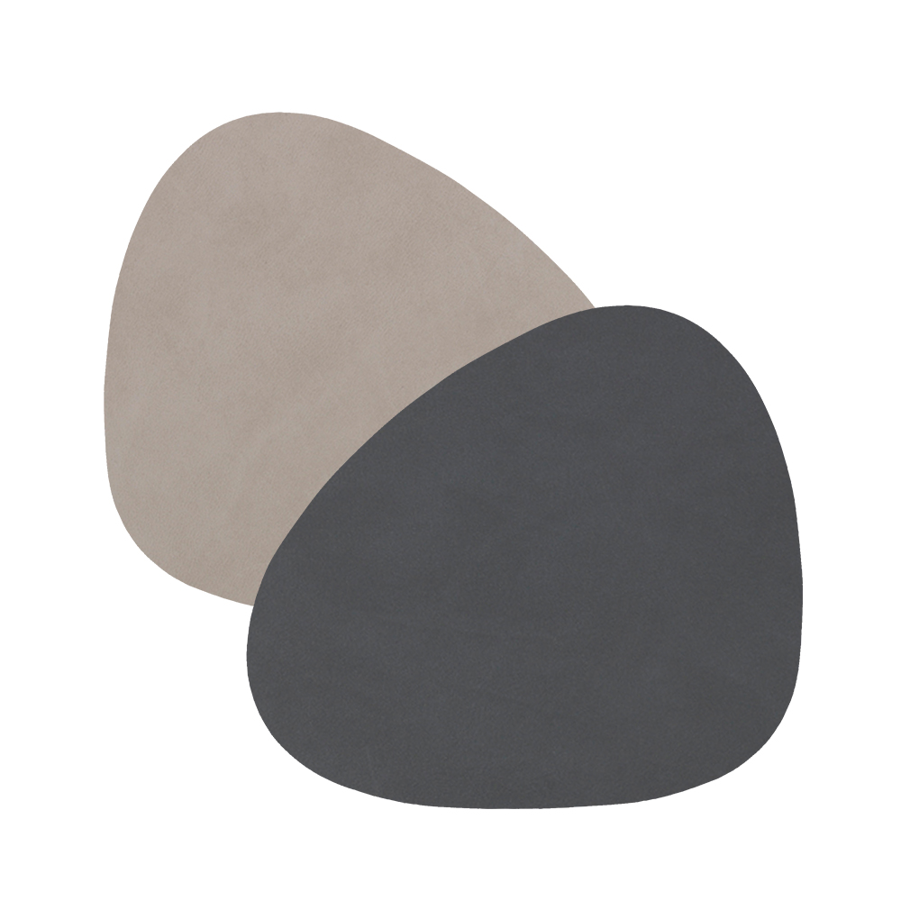 linddna glass mat curve double anthracite light grey 1000