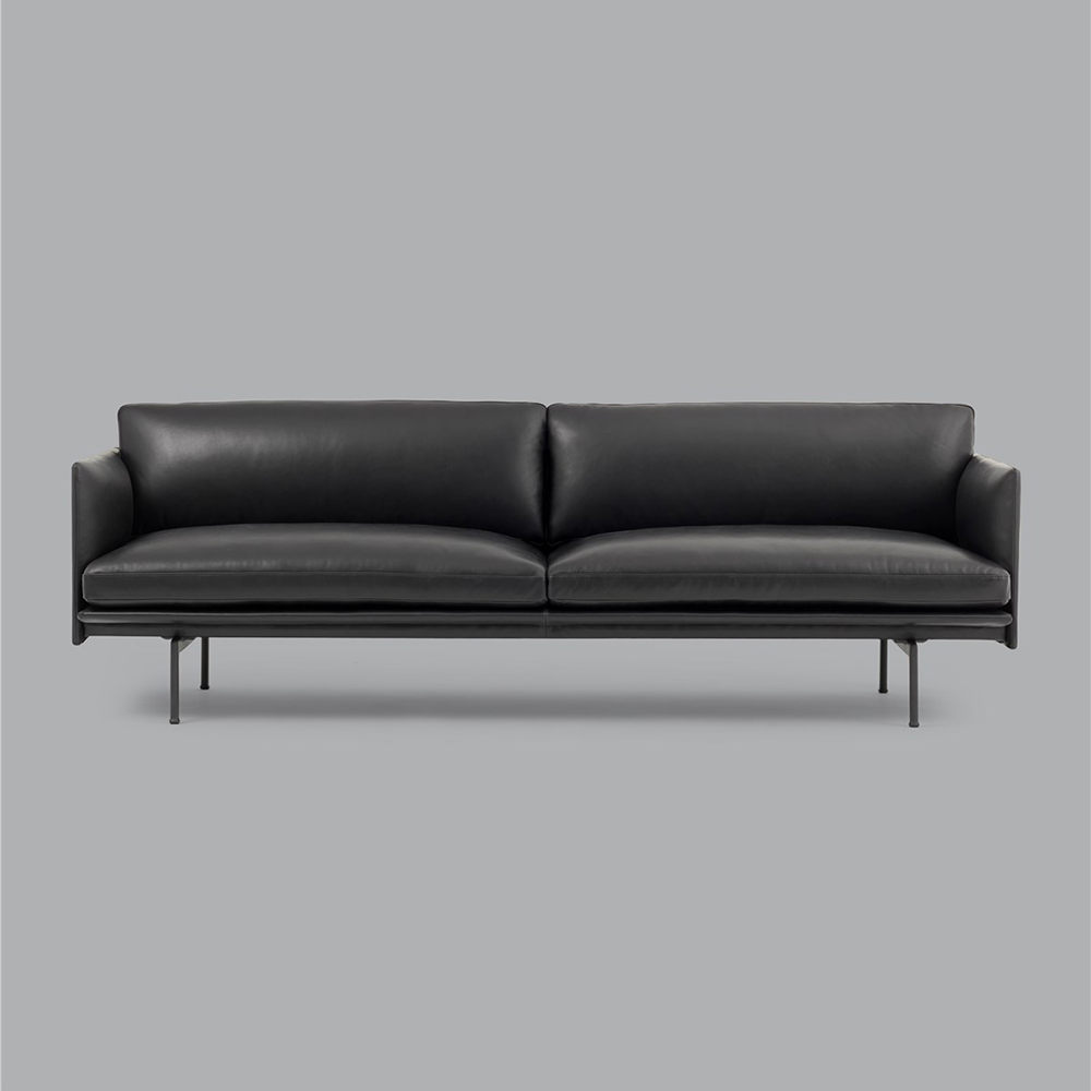 muuto outline 3 seater black refine leather 02 1000