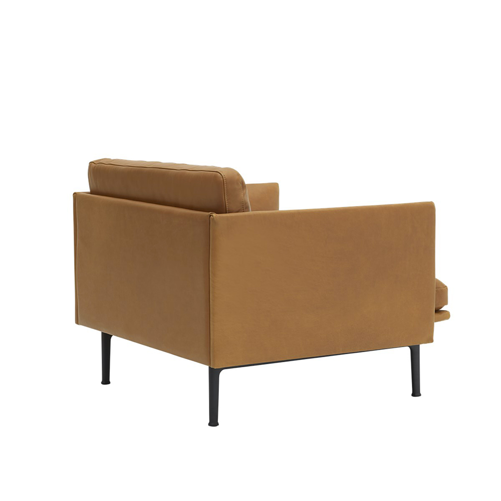 muuto outline chair cognac refine leather angle back 1000