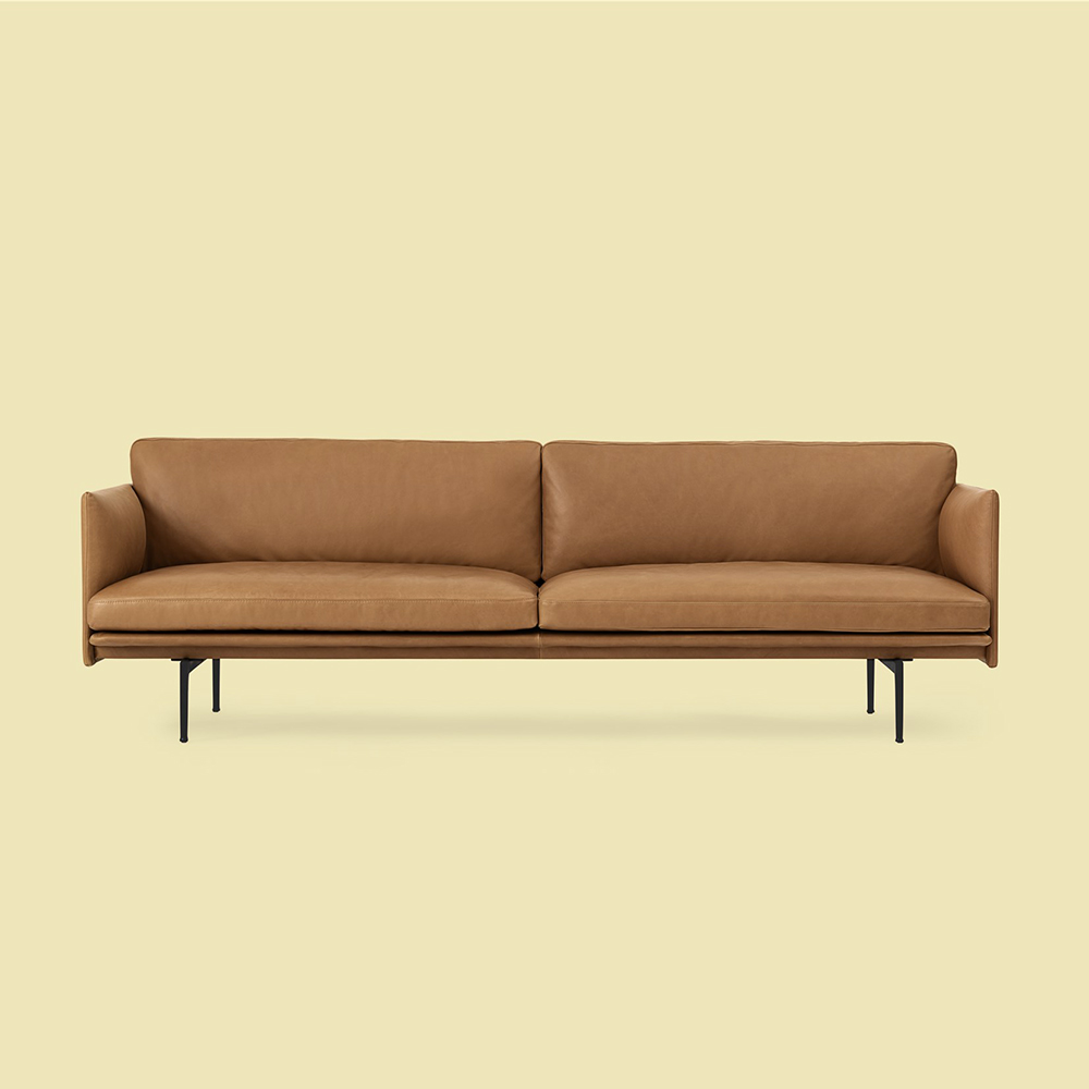 muuto outline 3 seater cognac refine leather 02 1000