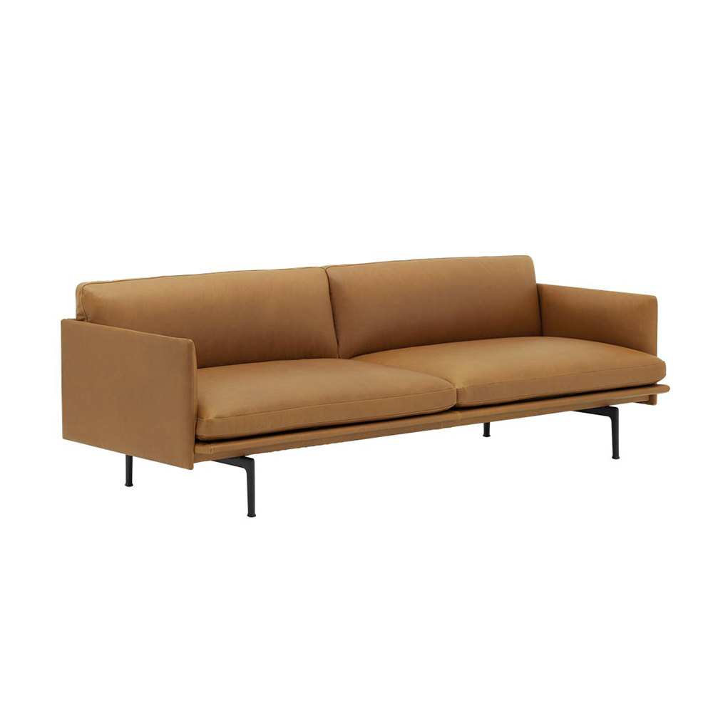 muuto outline 3 seater cognac refine leather 03 1000
