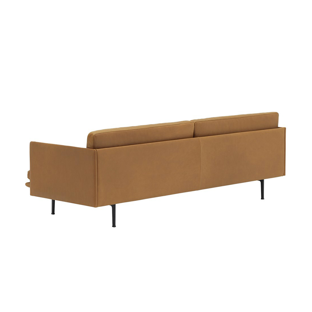 muuto outline 3 seater cognac refine leather 04 1000