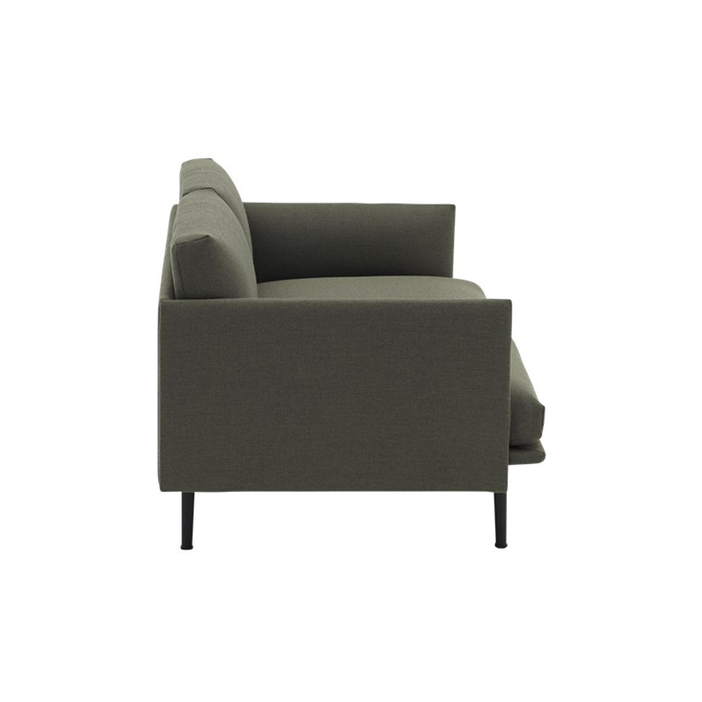 muuto outline 2 seater sofa fiord 961 side 1000