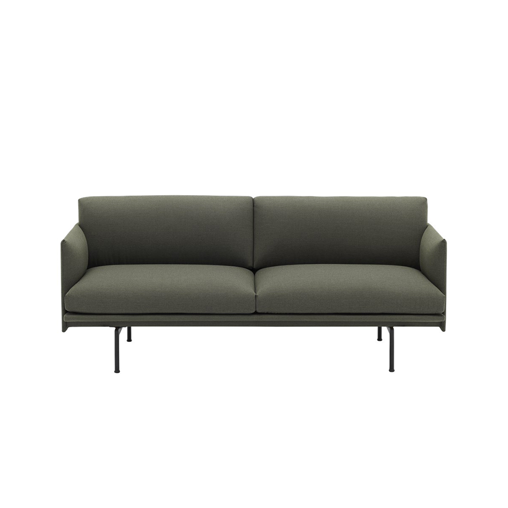 muuto outline 2 seater sofa fiord 961 front 1000