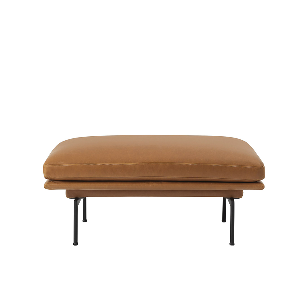 muuto outline pouf cognac refine leather 01 1000