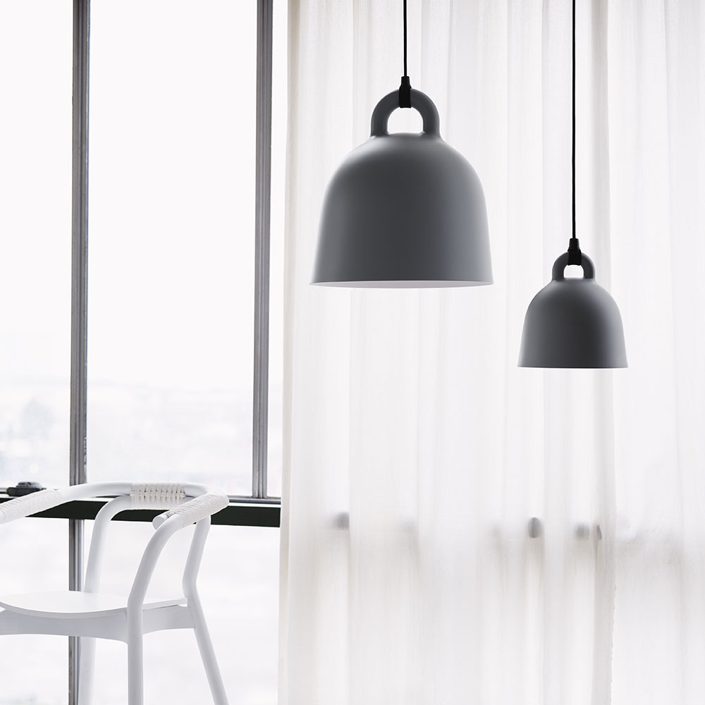 normann copenhagen bell lamp large medium grey 1000