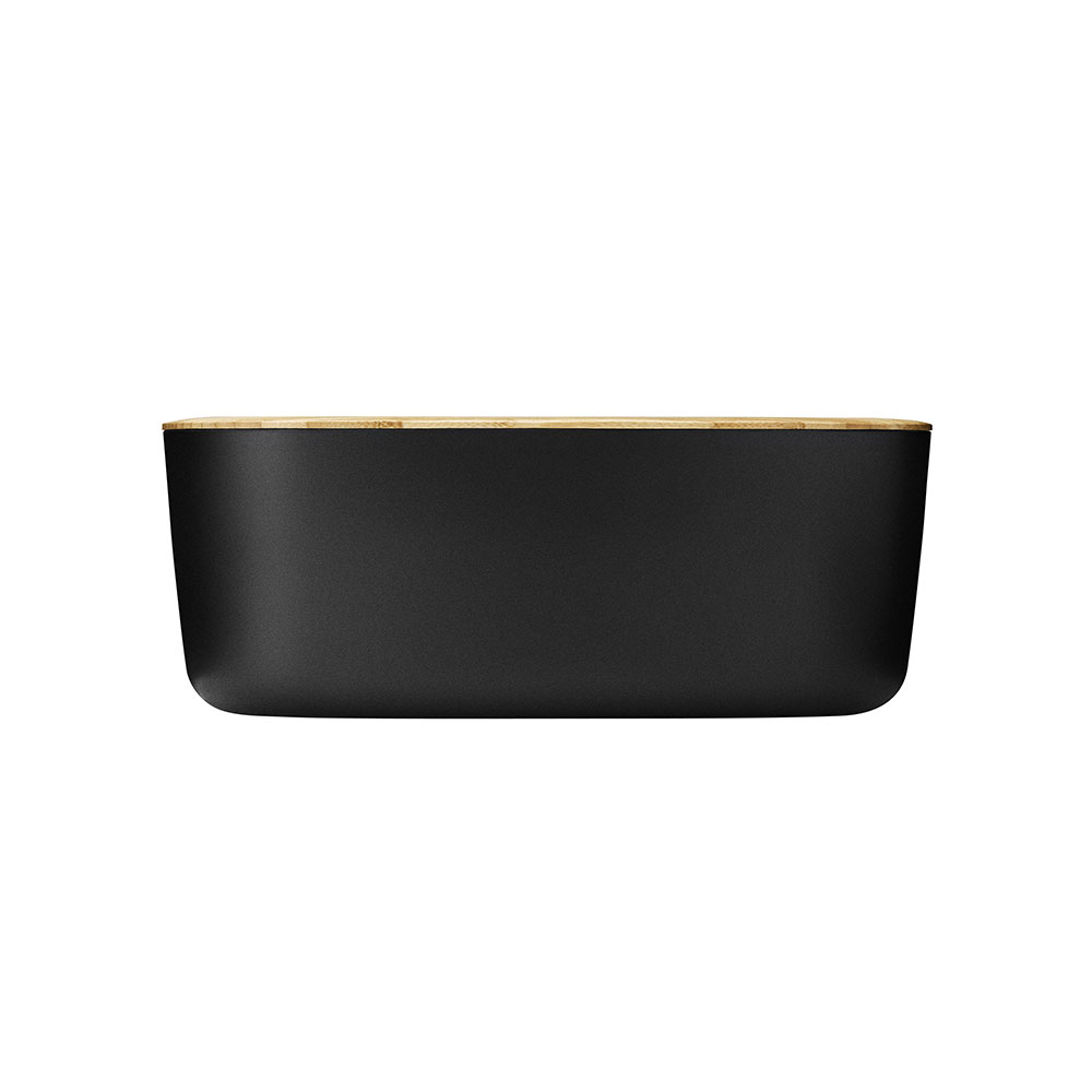 stelton rig tig bread box black side 1000
