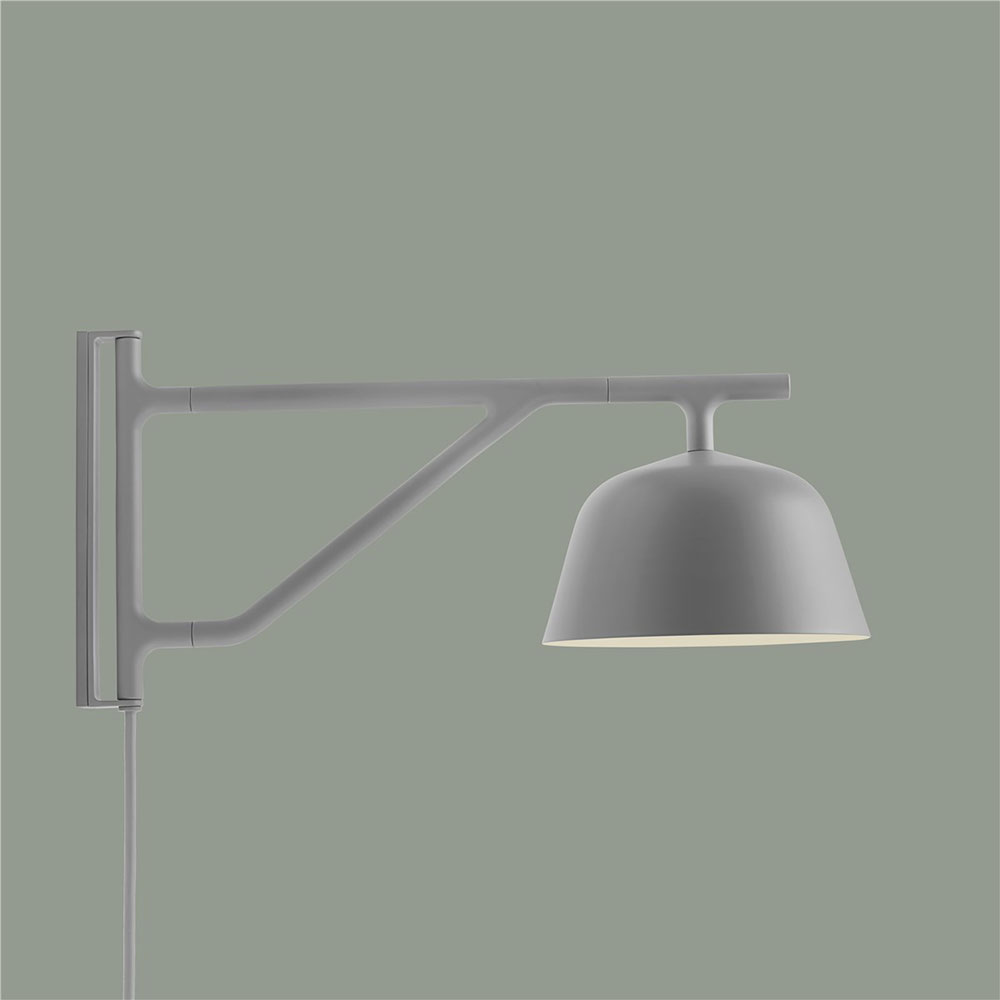 muuto ambit wall lamp grey side colour 1000