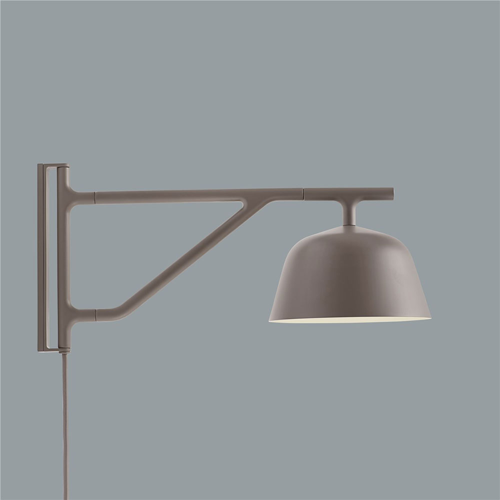 muuto ambit wall lamp taupe side colour 1000