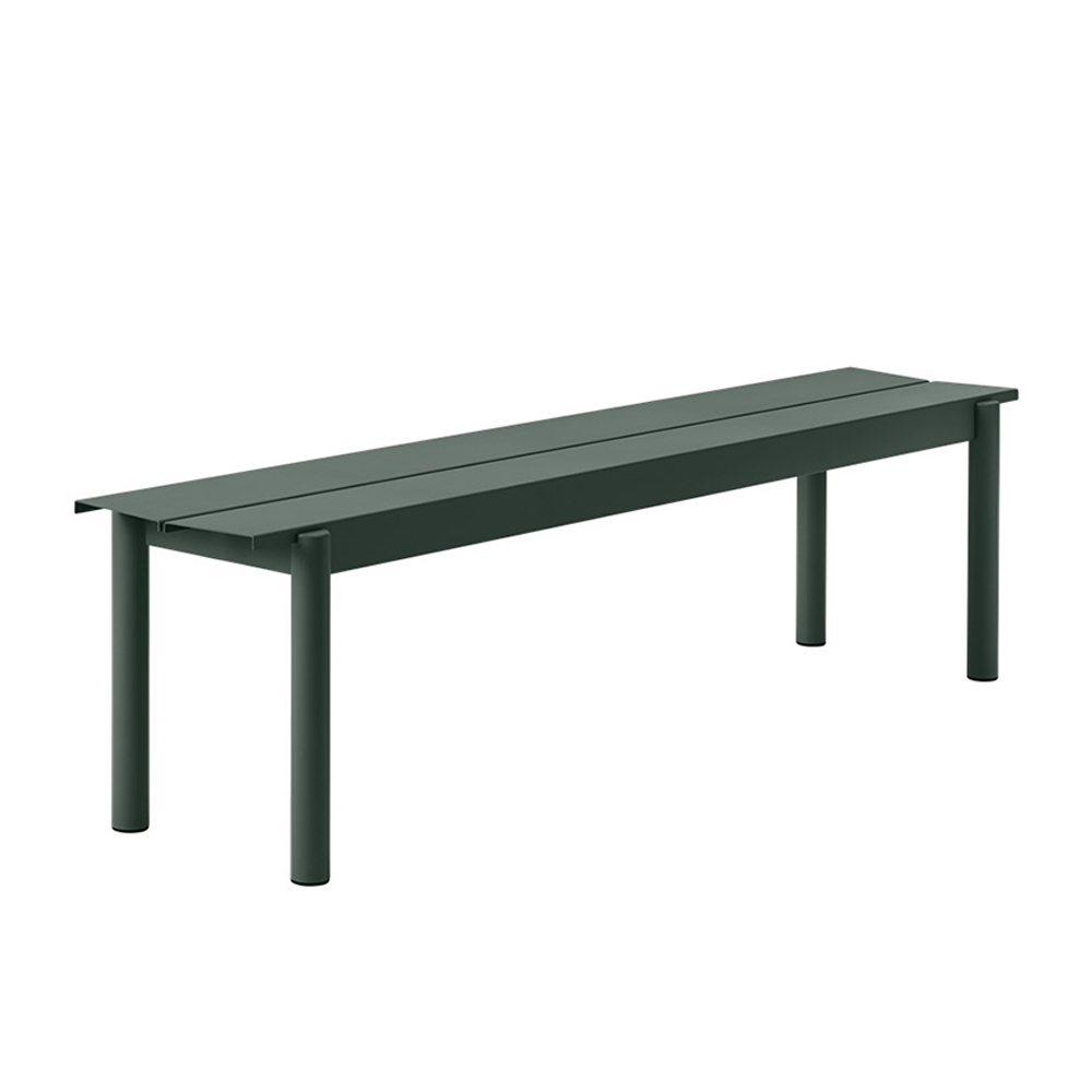 muuto linear table bench dark green 170cm 1000