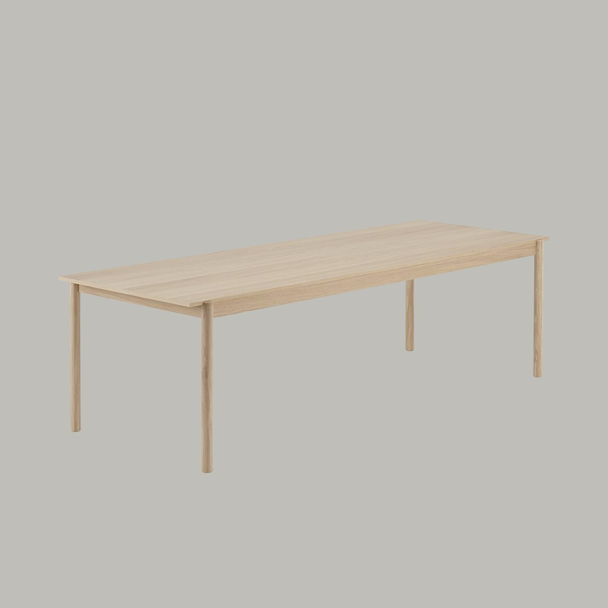 muuto linear wood table 260cm colour 1000
