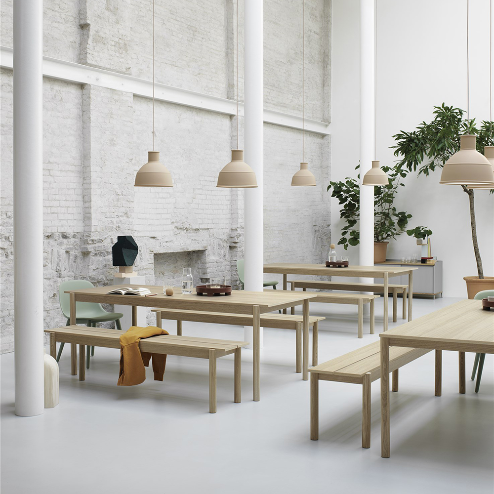 muuto linear wood table bench lifestyle 01 1000