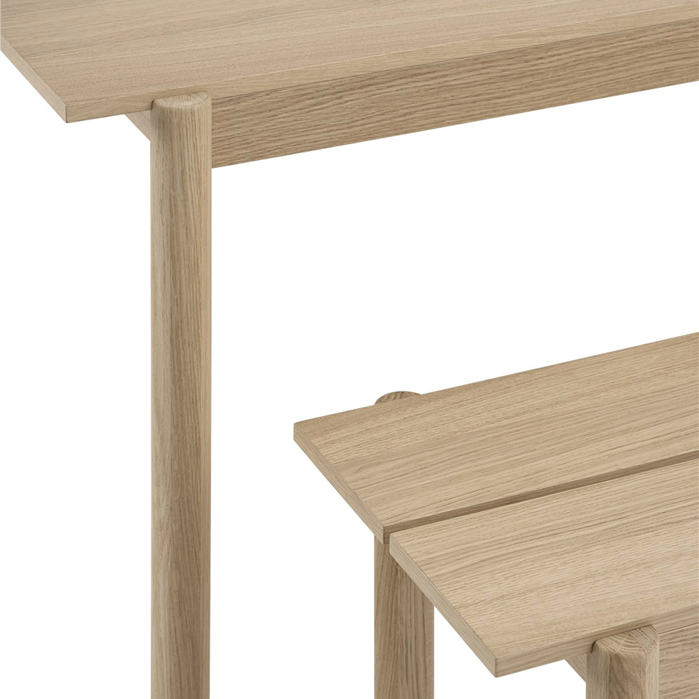 muuto linear wood table bench detail 01 1000