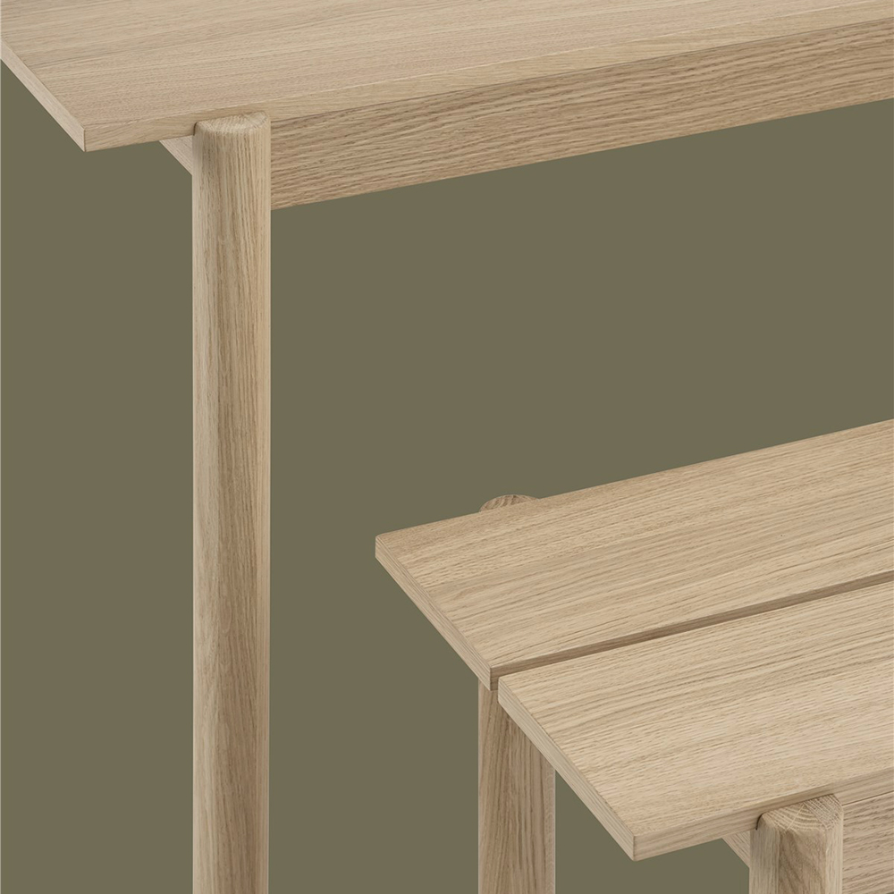 muuto linear wood table bench detail 02 1000