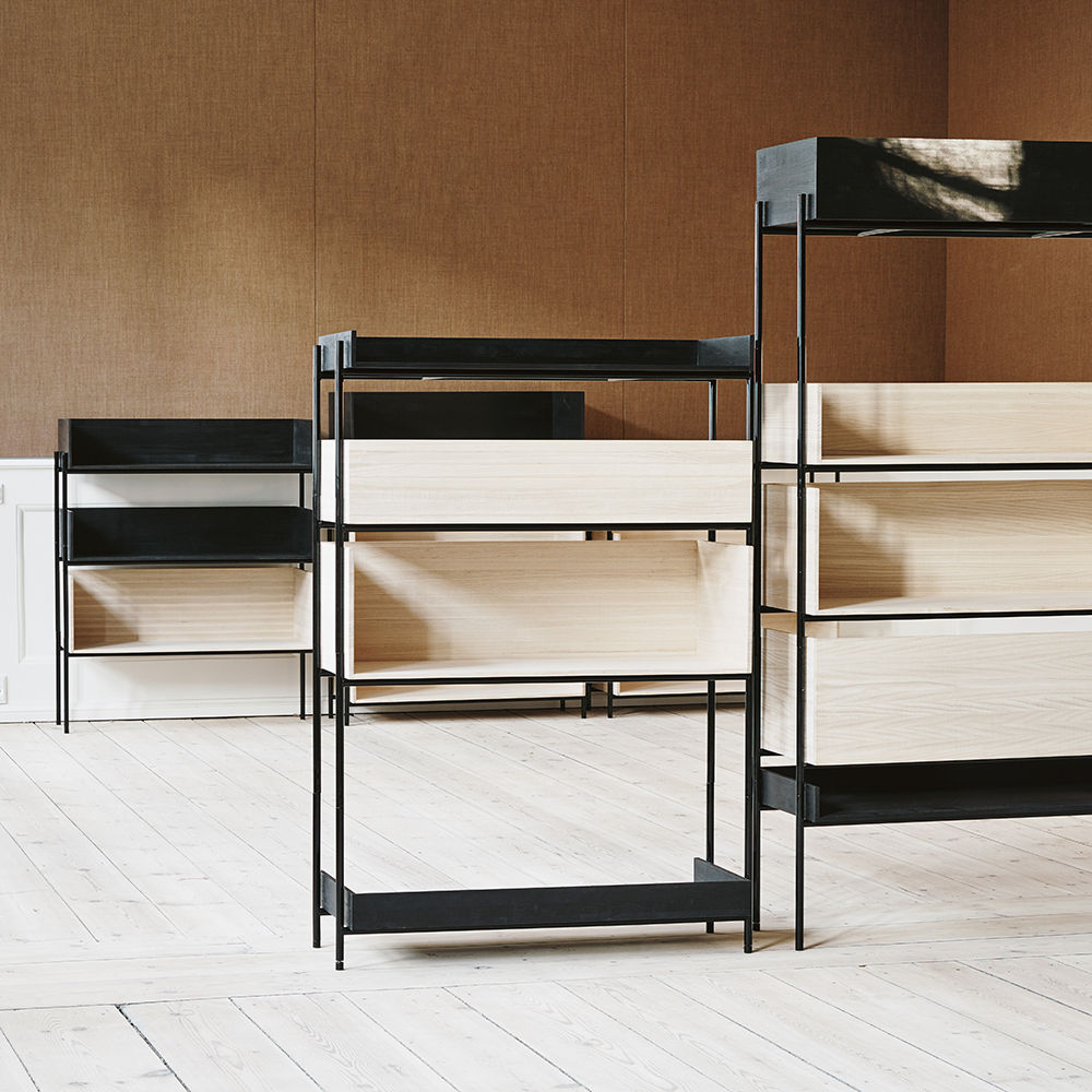 skagerak vivlio shelf small black ash 03 in room