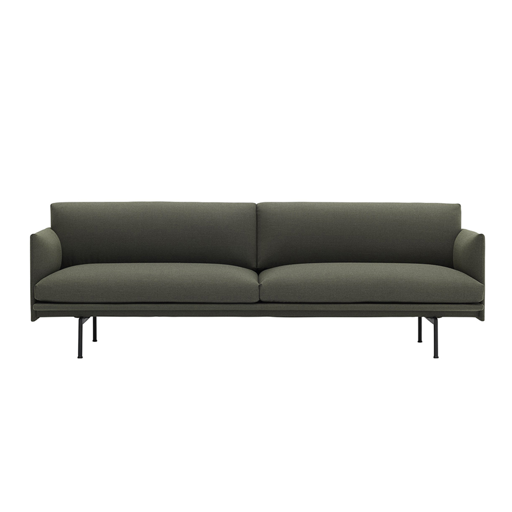 muuto outline 3 seater fiord 961 front 1000