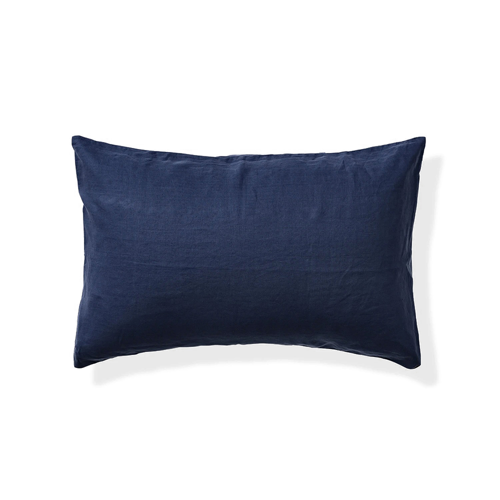 in bed linen pillowcase midnight blue 1000