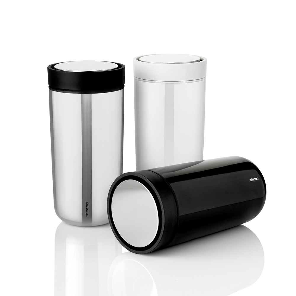 stelton to go click cup steel chalk black group 1000