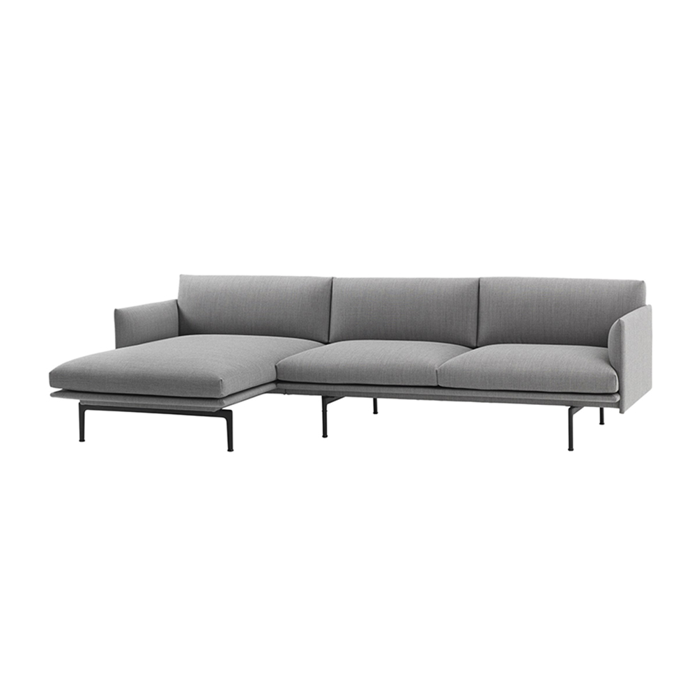 muuto outline chaise left 3 seater fiord 151 side 1000