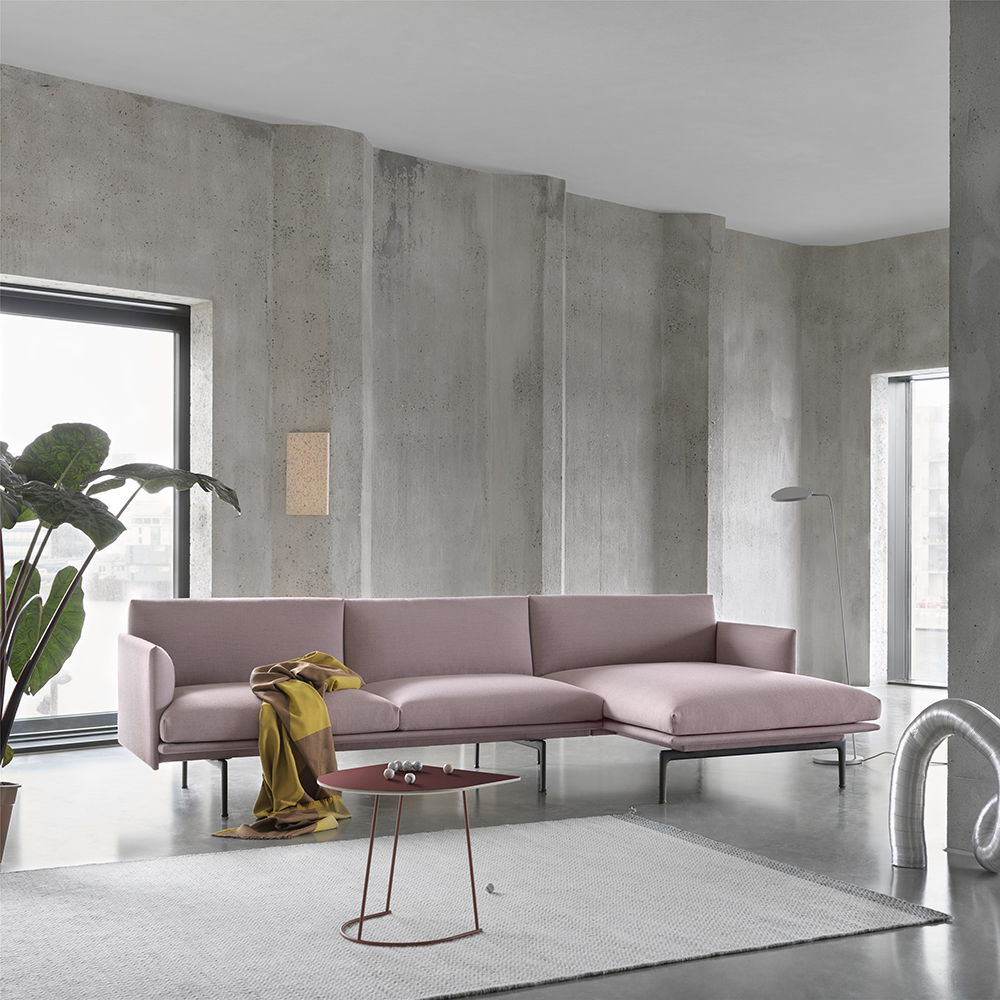 muuto outline chaise right 3 seater fiord 551 lifestyle 1000