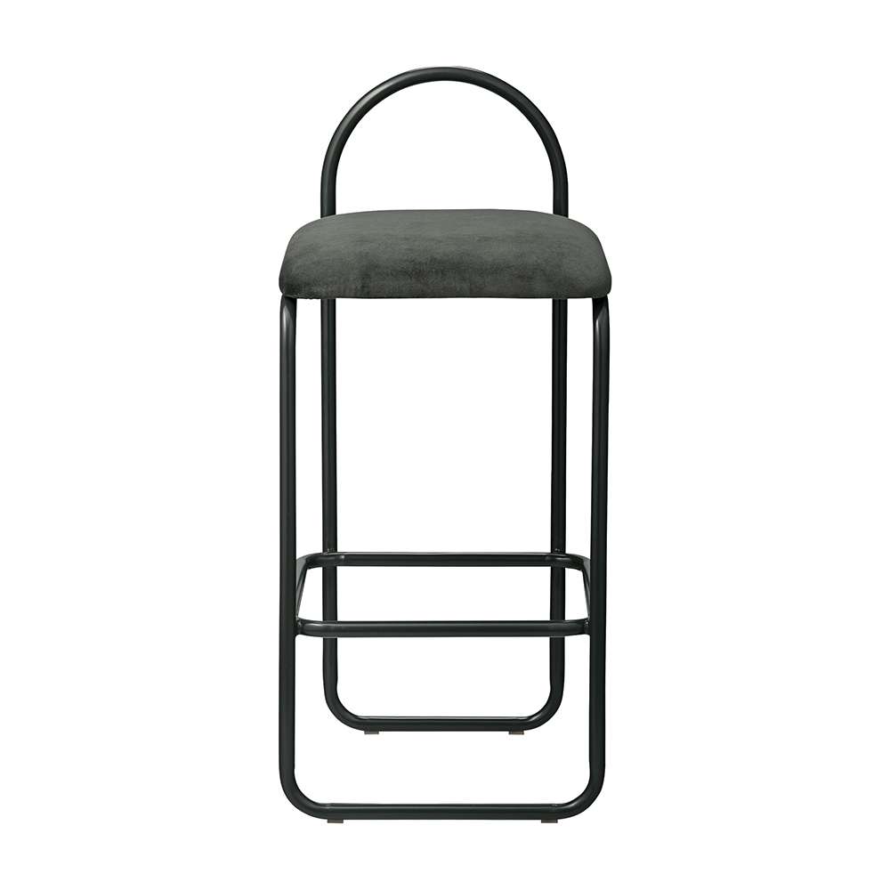 aytm angui bar stool low forest green front 1000