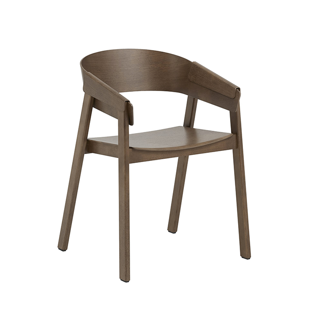 muuto cover chair stained dark brown 1000