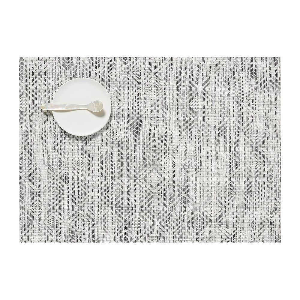 chilewich placemat mosaic white black 1000