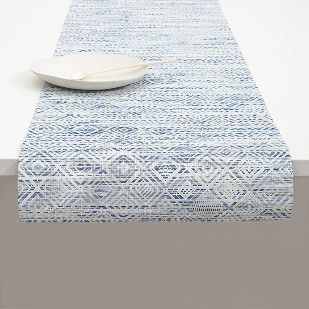 chilewich table runner mosaic blue 1000