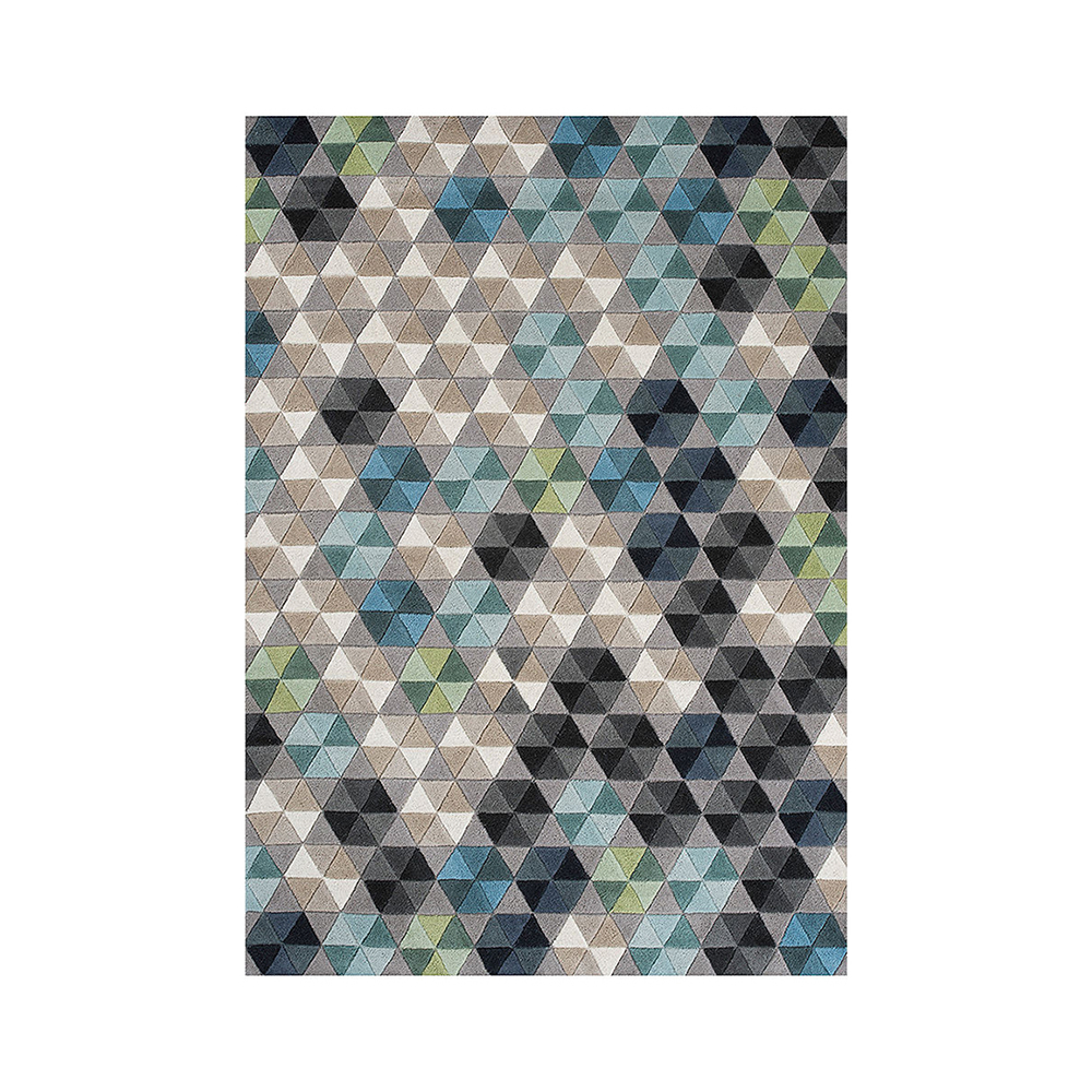 linie design wool rug colmena mixed 1000