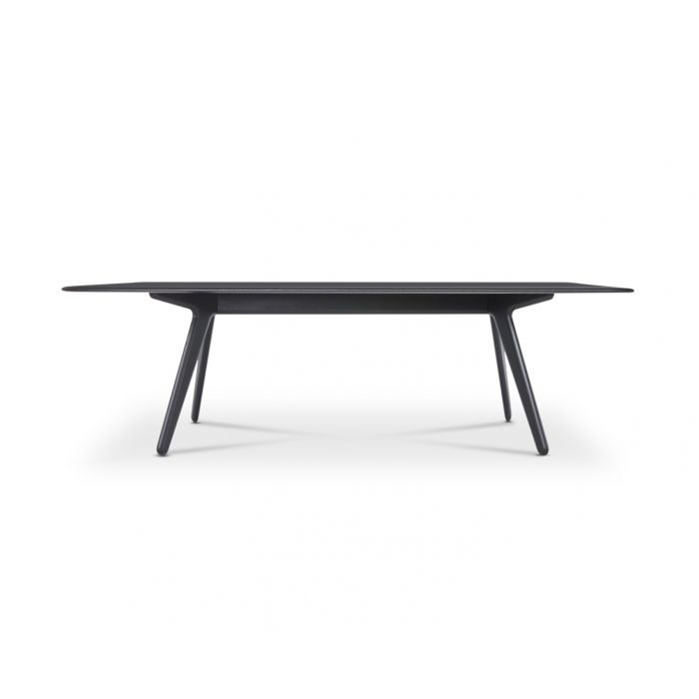 tom dixon slab table black oak front 1000