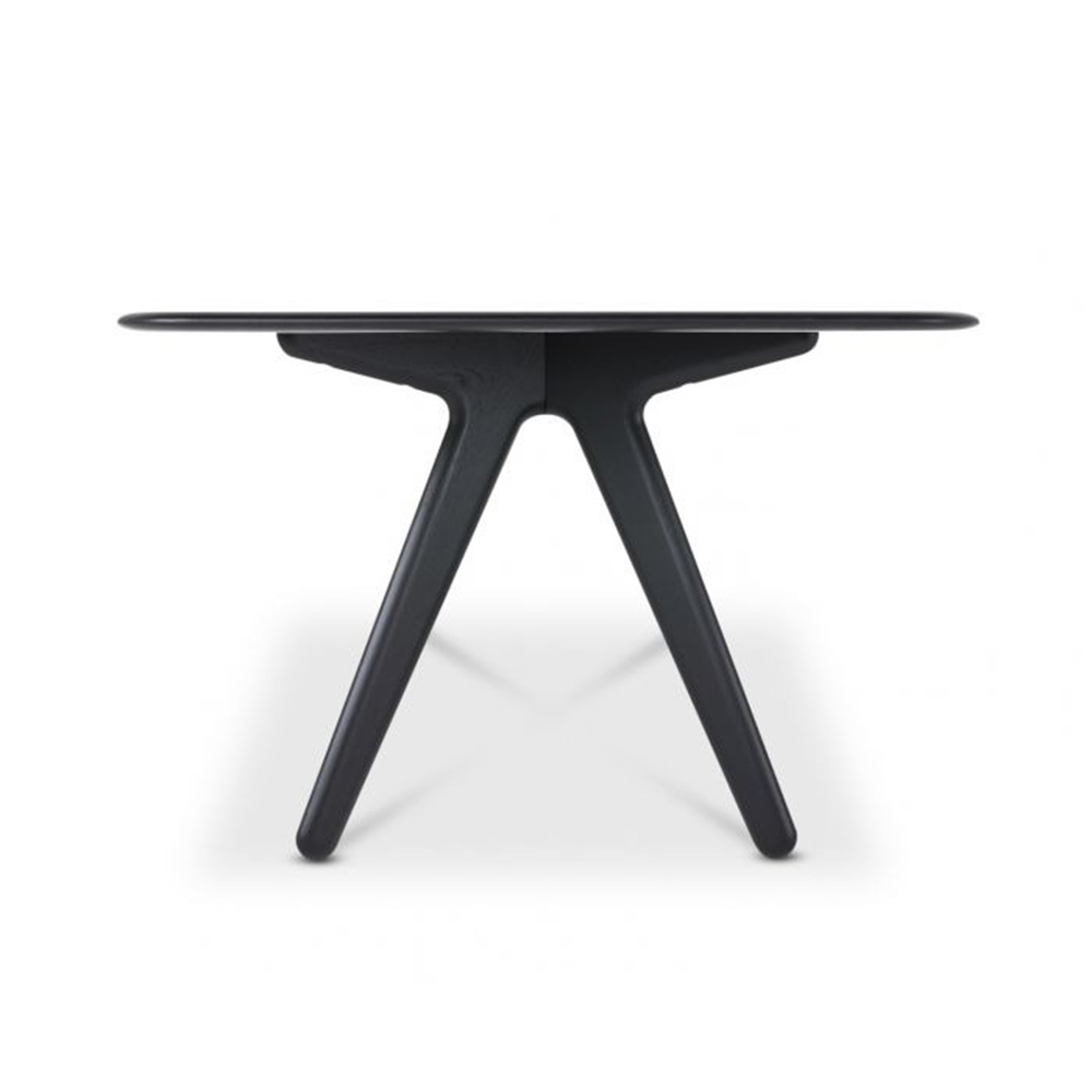 tom dixon slab table black oak side 1000